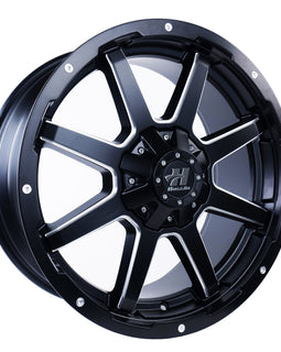 HUSSLA STEALTH 18X9 6X139.7 30 MATTE BLACK MACHINED SPOKES