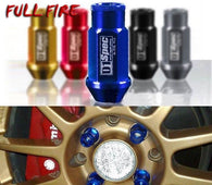 JDM Racing Aluminium alloy Wheel Lug Nuts Screw M12x1.5/1.25 Length 50mm/40mm for 95% cars 20 pieces/set
