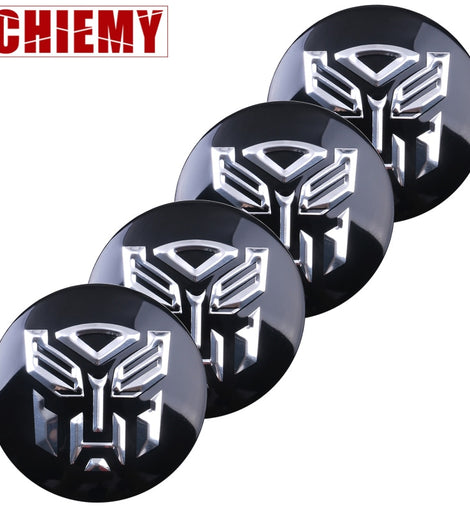 3D transformer centre cap stickers set
