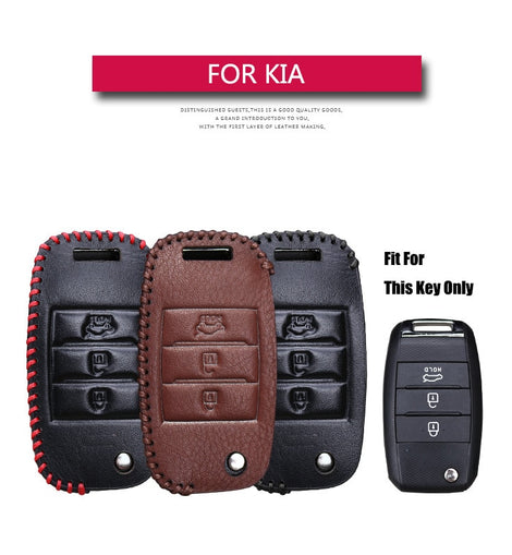 Leather Car Key Cover Case For KIA