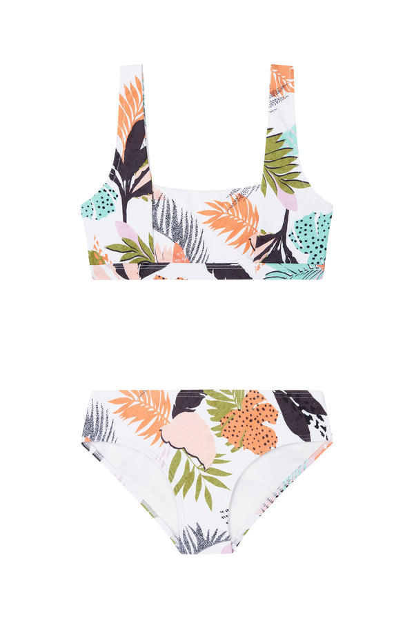 Tropical Punch Square Neck Tankini