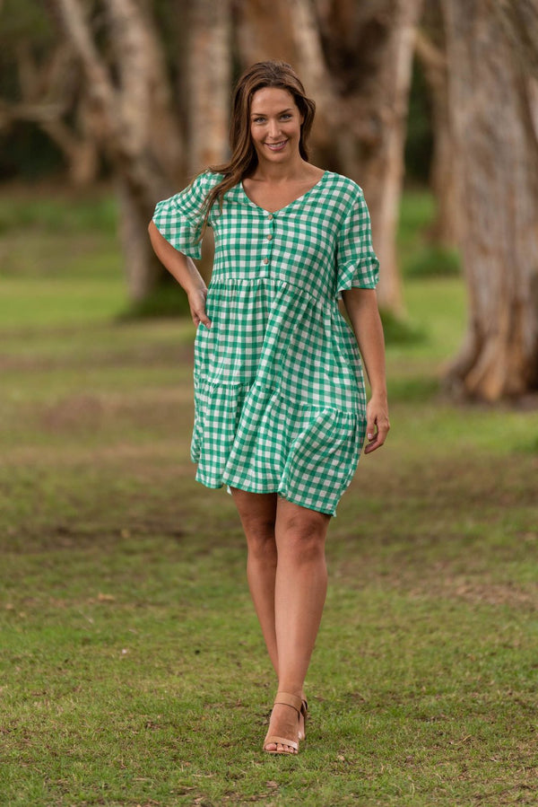 Boho Brianna Gingham Dress