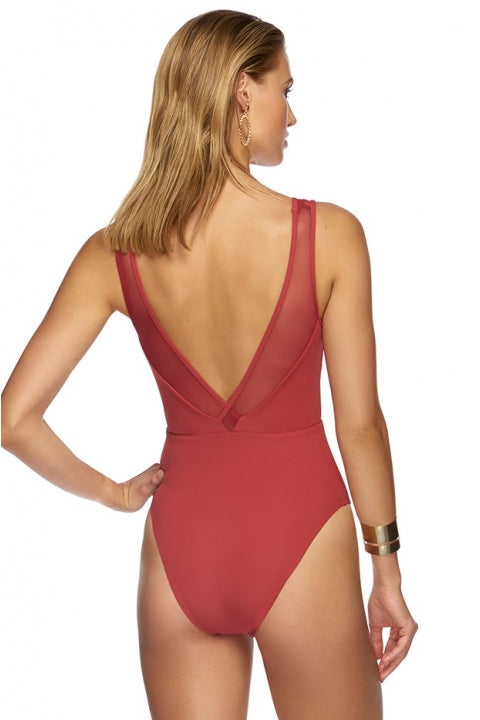 Jets Conspire Plunge One Piece - Red