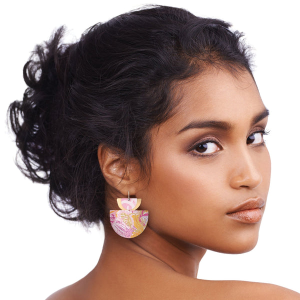 MOE MOE MORGAN JAMIESON LAYERED PADDLE DROP EARRINGS