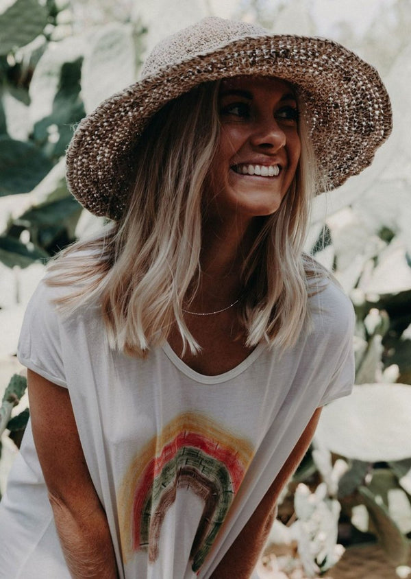 Hobo & Hatch Polly Short Brim Hemp Hat - Natural