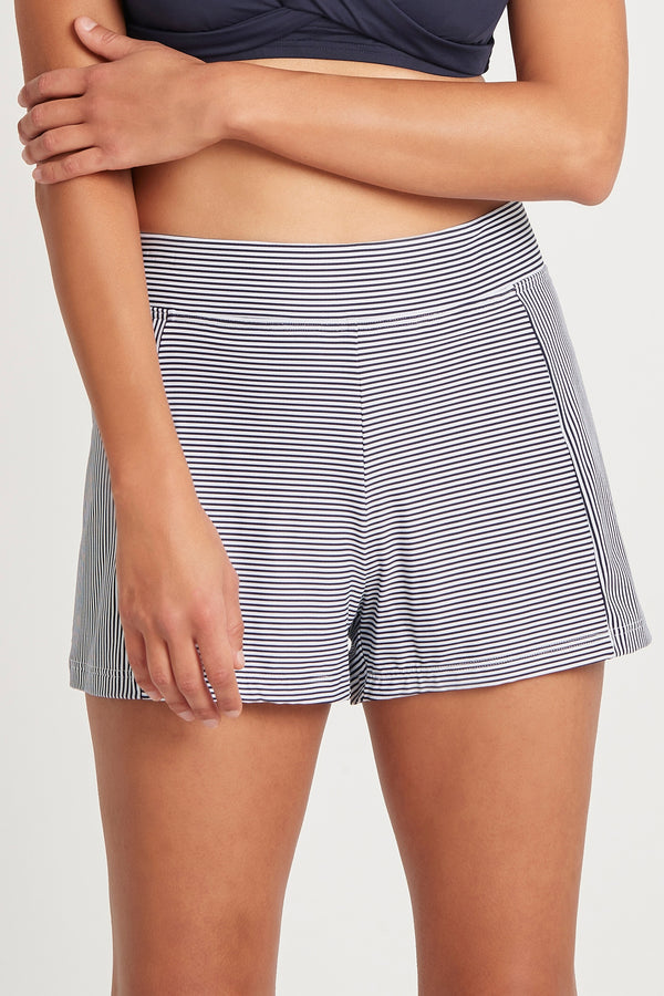 Positano Stripe Panelled Swim Short