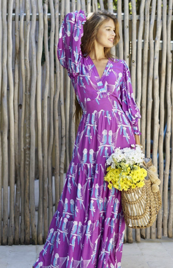 Orelia Maxi Dress - Rosella Parrots