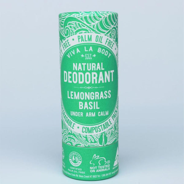 Viva Natural Deodrant Lemongrass Basil