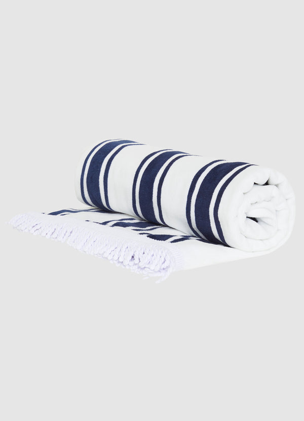 Seafolly Beach Towel Fench Stripe - Indigo