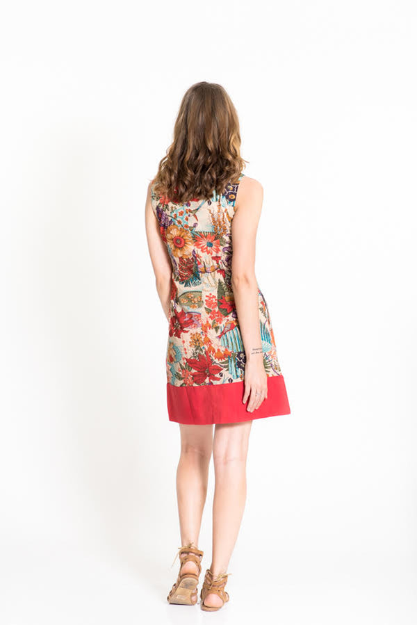OM Designs Millie Dress - Mimi San Print