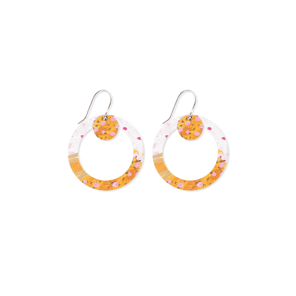 MOE MOE MORGAN JAMIESON LAYERED SMALL CIRCLE OUTLINE DROP EARRINGS