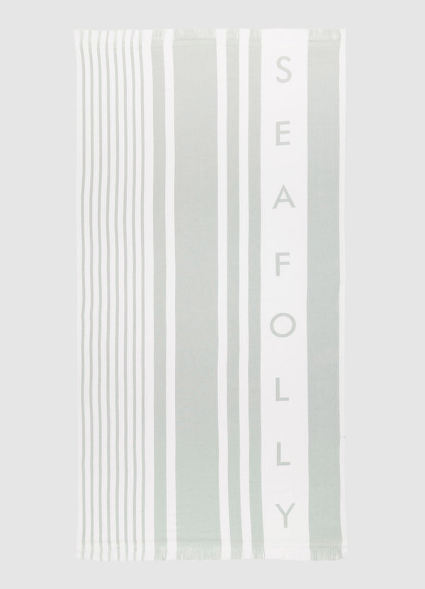 Seafolly Beach Towel Multi Stripe - Sage