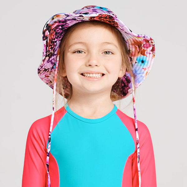 Aqua Blu Girls Peoni Lycra Hat