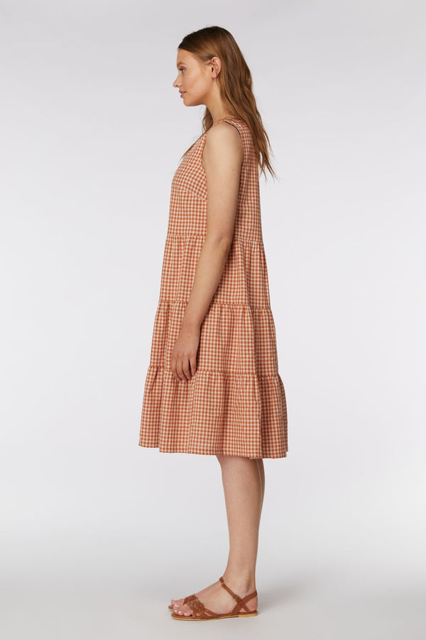 Princess Highway Astor Dress - Terracotta