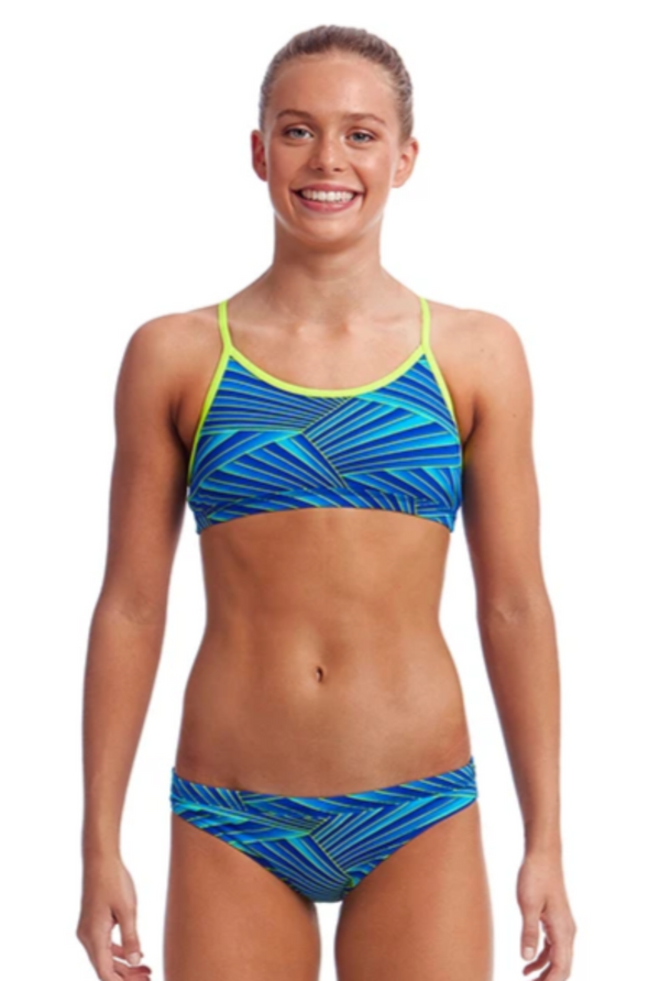 Funkita Girls Racer Back Two Piece - Streaker