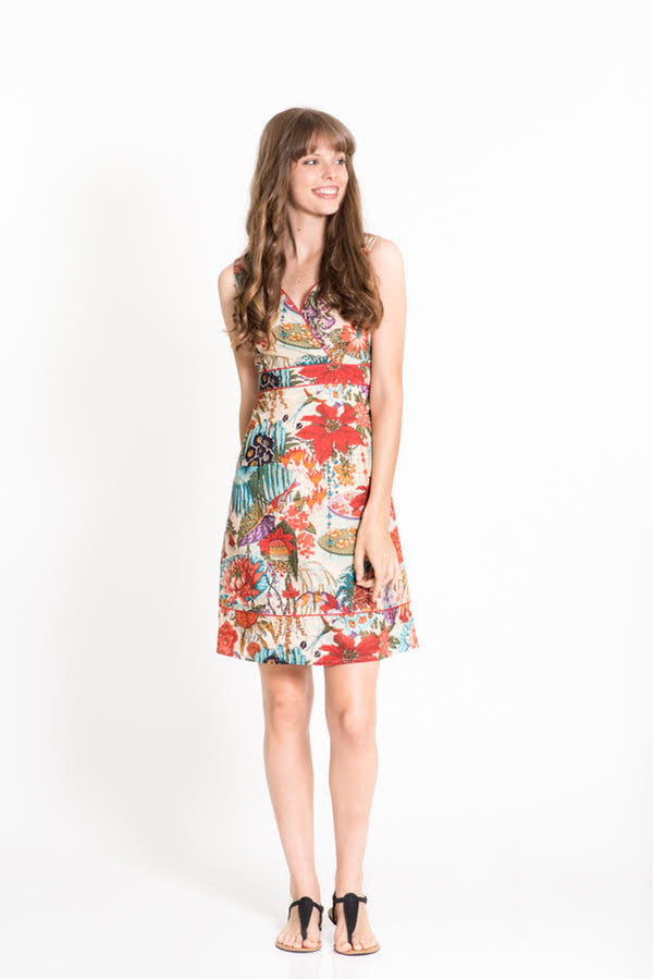 OM Designs Charly Dress - Mimi San Print