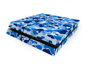 Sony PS4 Blue Game Camo Decal Skin Kit