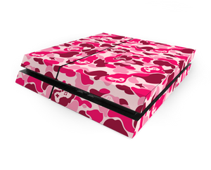 Sony PS4 Pink Game Camo Decal Skin Kit