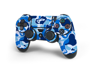 PS4 Controller Blue Game Camo Skin Decal Kit