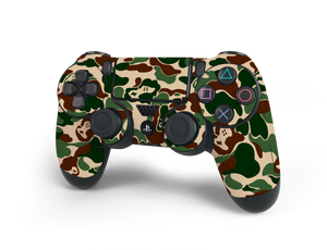 PS4 Controller Khaki Game Camo Skin Decal Kit