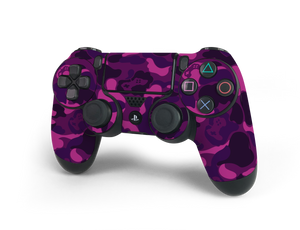 PS4 Controller Purple Game Camo Skin Decal Kit
