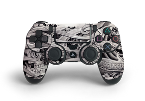 PS4 Controller Skull Tattoo Decal Kit