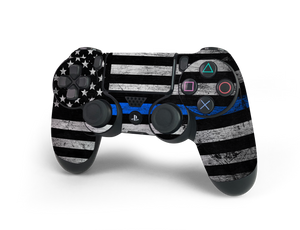 PS4 Controller Thin Blue Line Decal Kit