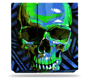 Sony PS4 Blue Cyber Skull Skin
