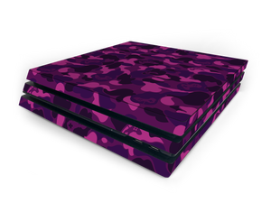 Sony PS4 Pro Purple Game Camo Skin