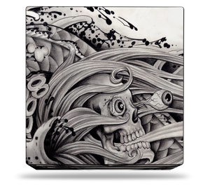 Sony PS4 Pro Skull Tattoo Skin