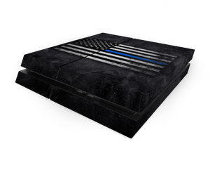 Sony PS4 Thin Blue Line Decal Skin Kit