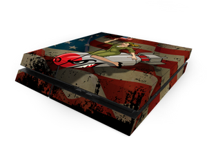 Sony PS4 Bomber Girl Decal Skin Kit