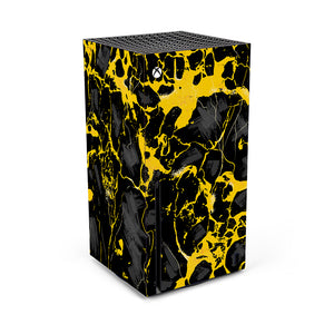 XBOX SERIES X BLACK AND YELLOW