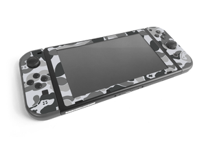 Nintendo Switch Grey Game Camo Skin Decal Kit