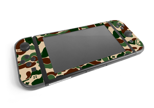 Nintendo Switch Khaki Game Camo Skin Decal Kit