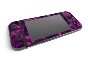Nintendo Switch Purple Game Camo Skin Decal Kit
