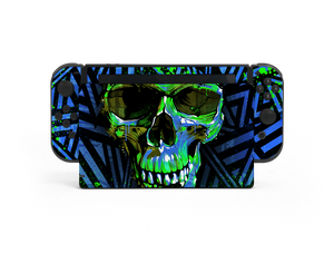 Nintendo Switch Blue Cyber Skull Skin Decal Kit