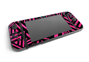 Nintendo Switch Pink Cyber Skull Skin Decal Kit