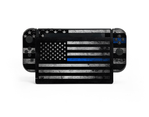 Nintendo Switch Thin Blue Line Skin Decal Kit
