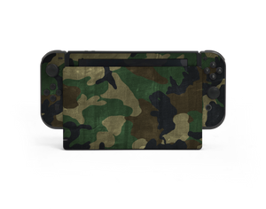 Nintendo Switch Woodland Camo Skin Decal Kit