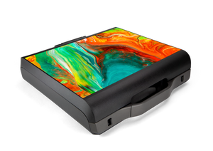 GAEMS Sentinel Teal Orange Paint Pour Skin