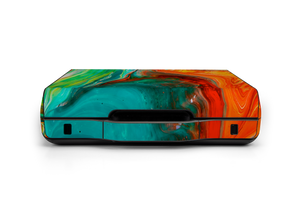 GAEMS Full Sentinel Teal Orange Paint Pour Skin