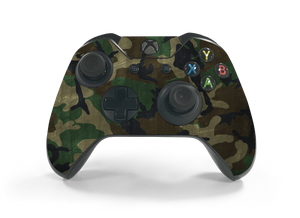 Xbox One Controller Woodland Camo Decal Kit
