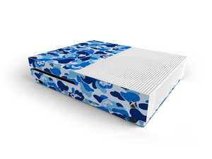 Xbox One S Blue Game Camo Skin