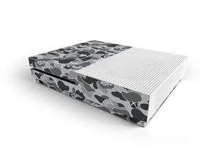 Xbox One S Grey Game Camo Skin