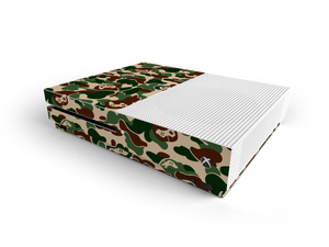 Xbox One S Khaki Game Camo Skin