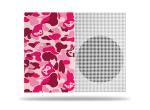 Xbox One S Pink Game Camo Skin