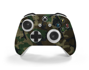 Xbox One S Controller Woodland Camo Decal Kit