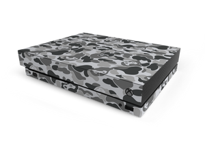 Xbox One X Grey Game Camo Skin