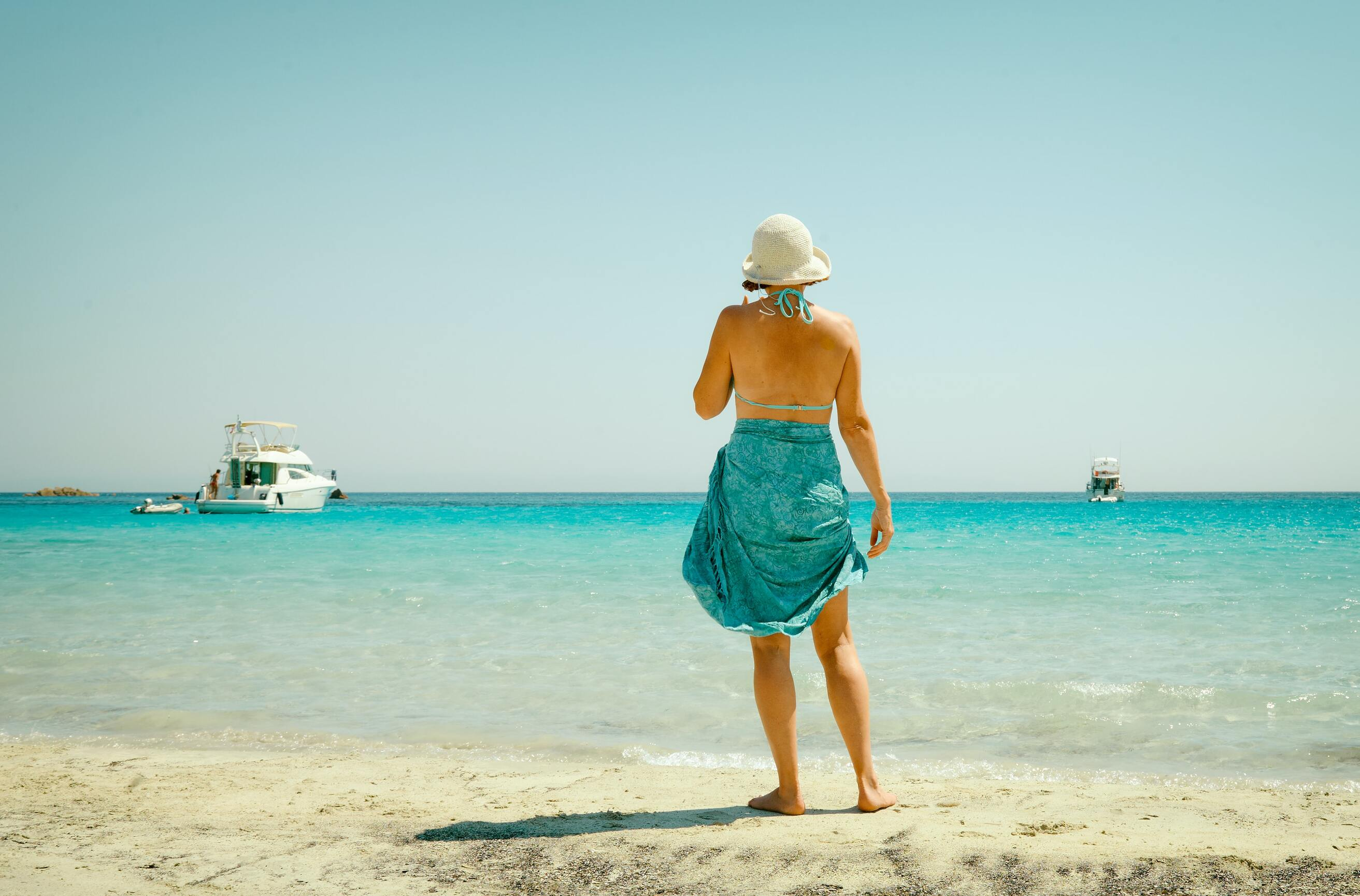 woman wearing a beach-cover up